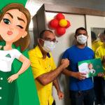 Ganhador da campanha do GR Dumont recebe o produto, em Pernambuco